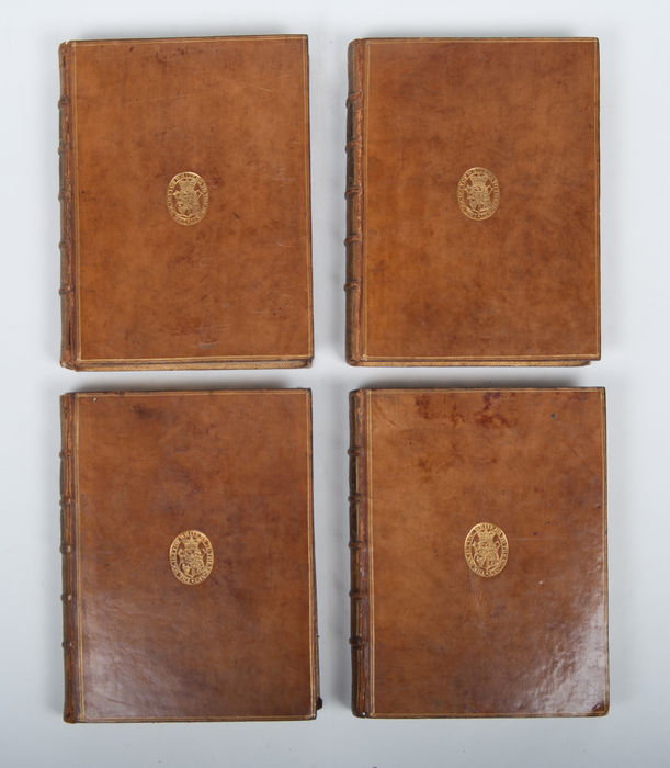 Bookbindings; Oeuvres de Clement Marot - 4 volumes - 1731