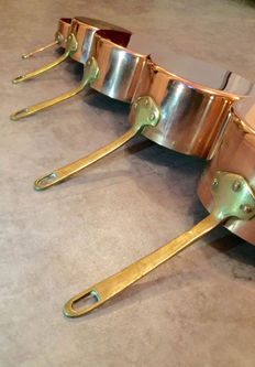 Copper pans, 20th century, France