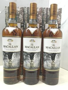 Macallan 12 Sherry Cask Limited Edition by Albert Watson Set of 3 bottles
