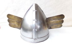 "Nice Gallic helmet in steel tesame model as used in the film ""Cleopatra"""