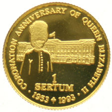 Bhutan – 1 Sertum 1993, 1/25 oz.