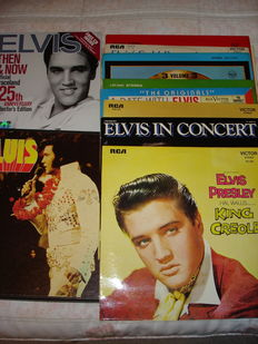 """Elvis Presley - Lot of 17 albums, and booklet """"Then & now, official Graceland 25th anniversary""""  collector's edition 2002"""
