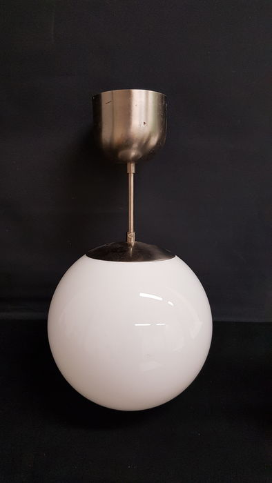 White glass ball lamp / school lamp