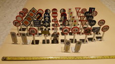 51 x Very old enamel traffic signs - 1950s