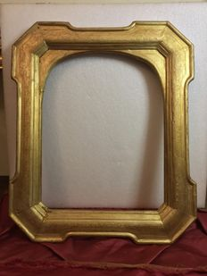 Cabaret frame in wood and leaf gilding, France, late 19th