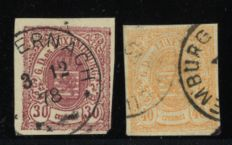 Luxemburg 1859 30 and 40 cents, second issue
