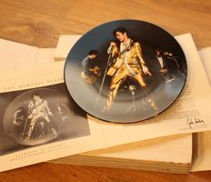 """Elvis collectable plate """"THE MEMPHIS FLASH"""" from Delphi"""