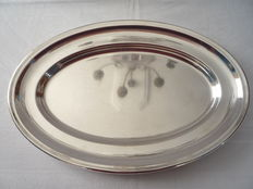 Oval serving tray, Wiskemann, Brussel, Ca. 1950