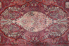 Stunning Kerman Lavar Persian carpet made of kork wool – 224 x 141 cm – very good condition