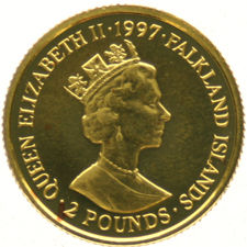 Falkland Islands – 2 pounds 1997, 1/25 oz "