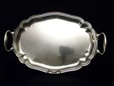 Silver two handled tray, Italy, 20th century
