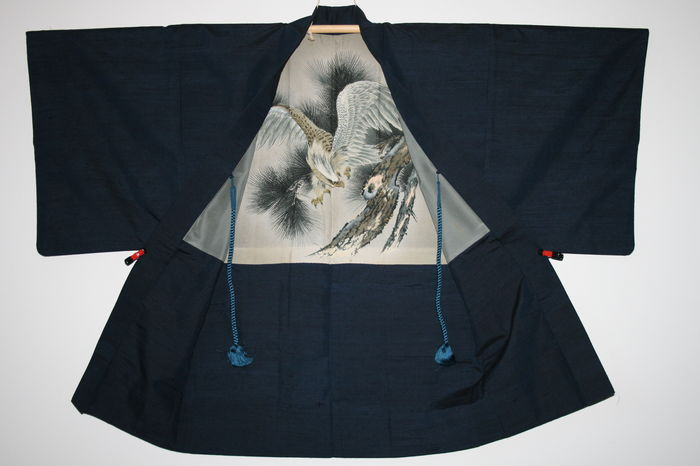 Silk men´s Haori Eagle - Japan - 2nd half of the 20th century