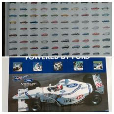 Two Ford posters - Ford formula 1 and model overview Ford - 1998 and 2000
