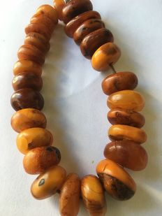 Amber Berbere Pearls - Morocco