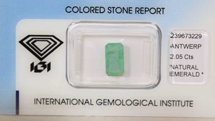 Emerald – 2.05 ct – No Reserve Price