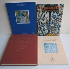 Tiles; Lot with 4 books about Portuguese and Spanish tiles - 1959 / 1995