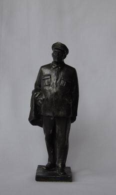 Sculpture V.I. Lenin. Organizer and leader of the October revolution of 1917 in Russia.