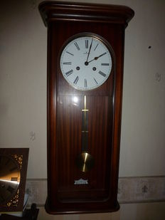 Regulator clock – mahogany – Junghans – from the 80s