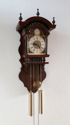 Sallander Tempus Fugit clock wall clock, 1960/70s. Movement: SBS Feintechnik