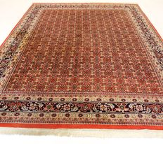 Oriental carpet, Indo Bidjar Herati, 250 x 350 cm, made in India at the end of the last century