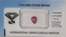 Sapphire – Pink purple – 1.57 ct – No reserve