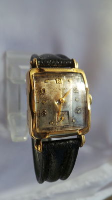 Vintage Wittnauer wristwatch, approx. 1930/40, silver-plated dial