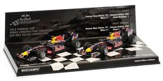Minichamps - Scale 1/43 - Lot with 2 models: 2 x Red Bull Racing Renault RB6 - Constructors World Champion Set 2010
