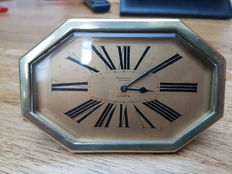 Beautiful Art Deco desk clock from Belgium - 1920s