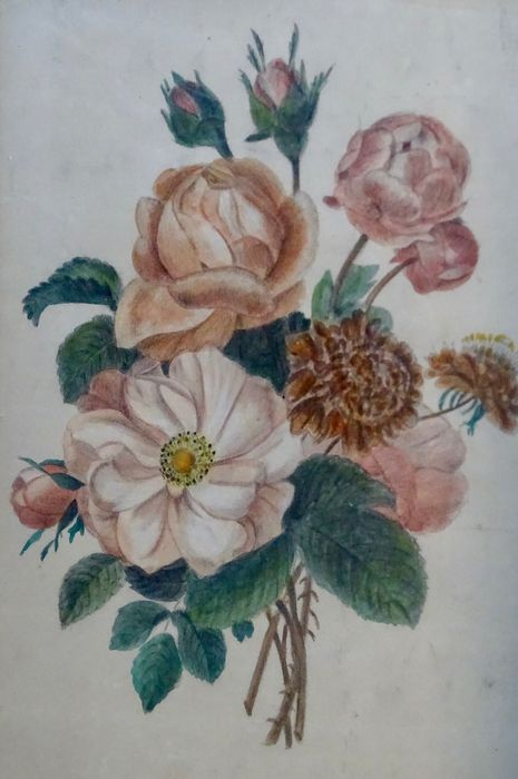 French School Of 19th Cent Bouquets De Fleurs Sauvages Catawiki