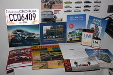 Morris Minor, Goodwood brochure, Interclassics Beurs book, Autogids Special, Mercedes S-class, Auto-Totaal Covers, SAAB-brochure, Presse-binder, plus 3 x Bonus