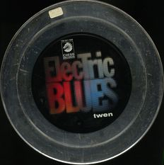"""John Lee Hooker and others """"Electric blues"""" 3 LP compilation in a rare 12"""" film can style metal box"""