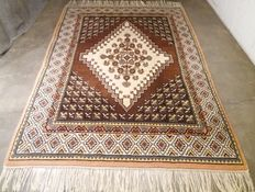 Beautiful hand knotted Tunesian rug, 255 x 169 cm, year 1982