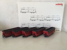 "Märklin H0 - 46249 - Self-unloading freight carriages type Fals of the DB Cargo ""Großkraftwerk"""