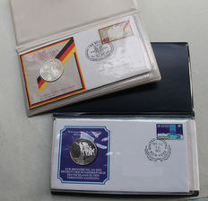 Germany - medals - first day covers 1973 + 1974 - silver