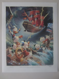Carl Barks - Preliminary Litho - Afoul of the Flying Dutchman - (1986)