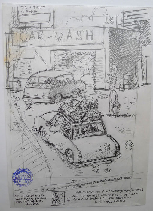 Cromheecke, Luc - Original sketch for cover - Tom Carbon (1996)