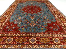 """Tabriz – 296 x 196 cm – """"Eye-catcher – Baby blue carpet in very beautiful, almost unused condition"""""""