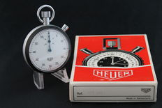 NOS Vintage Heuer Flyback Stopwatch Ref. 408.201 -- 1970 -- Set incl. Box