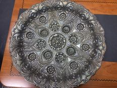 Wall Platter in Silver, Portugal, 19th/20th Century