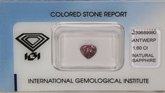 Colour changing sapphire – 1.60 ct