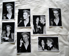 David Bowie a stunning set of seven candid photos 1975. Los Angeles