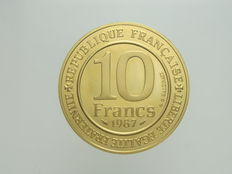 "France - 10 Francs 1987 ""Millenaire Capetien""  - gold"