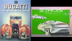 "1 original poster ""BUGATTI The myth of an epoch"" - PATRIGNANI plus 1 original poster ""ETHOS PININFARINA""  (prototype car)"