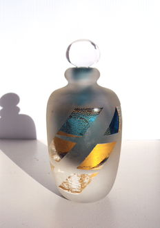 Maxence Parot - Unique bottle creation - gold and sandblasting (signed)