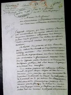 Autograph letter of the Ministre of war quartermaster General of the Grand Army of Napoleon Austerlitz Ulm 1805