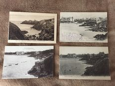 Very nice lot of about 470 old postcards Brittany and various France, some animated and travelled