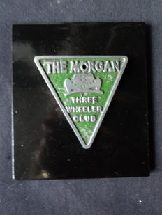 The Morgan Three Wheeler Club badge - 14 cm x 16 cm - 1940 years