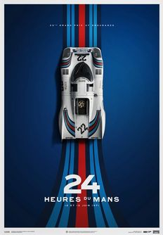 Porsche Collection fine art print - MARTINI Porsche 917 #22 - 24 heures du Mans 1971 - 50 x 70 cm number 171 of 1000