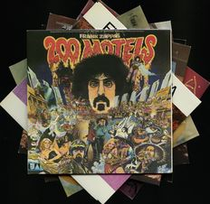 "Another journey by Zappa: lot of seven classic Zappa and the Motors albums including ""200 motels"", ""Hot rats"", ""Overnite sensation"", ""Apostrophe"", ""Just another band from L.A."", ""Zappa in New York"" and ""Roxy and elsewhere"""