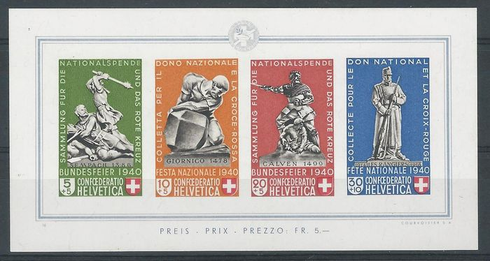 Switzerland 1940 – Pro Patria – Michel 5